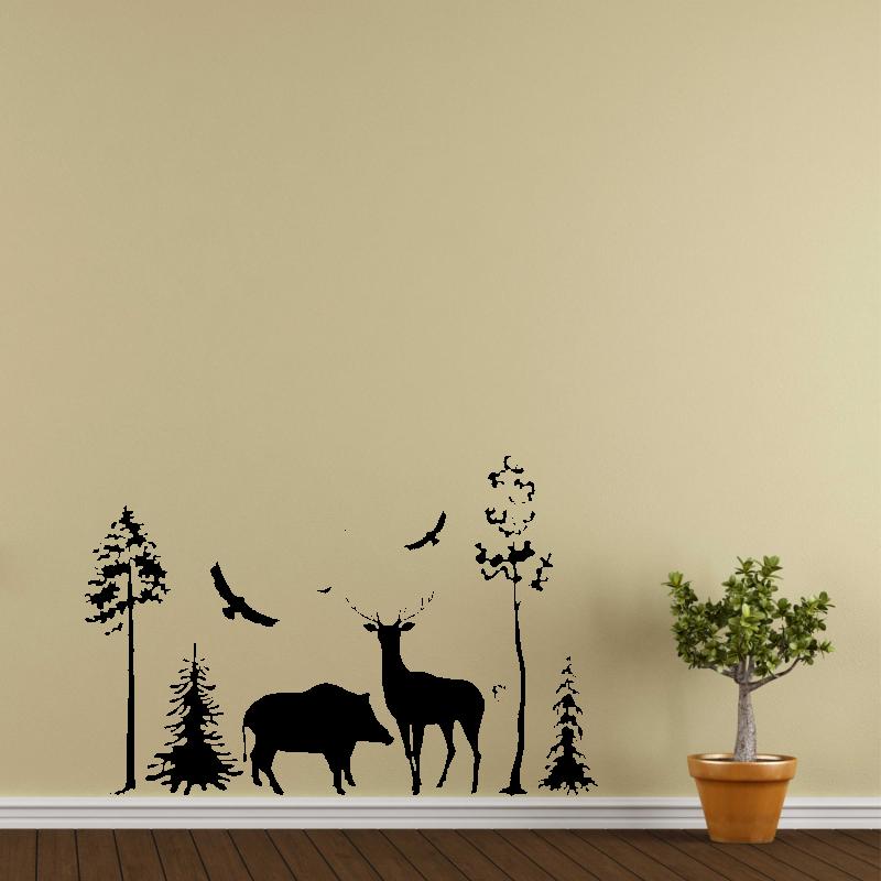 Samolepky na zeď - Samolepka na zeď - Les