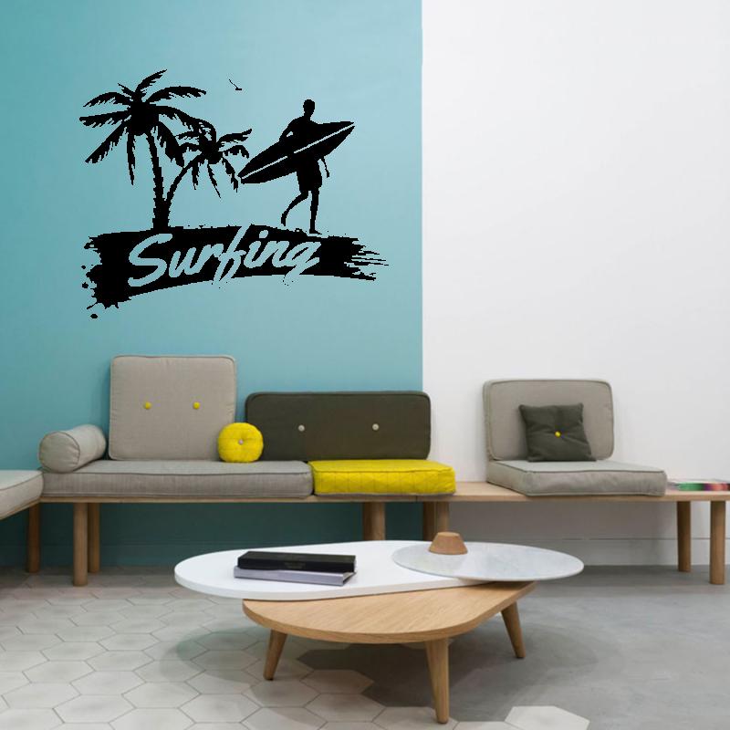 Samolepky na zeď - Samolepka na zeď - Surfing