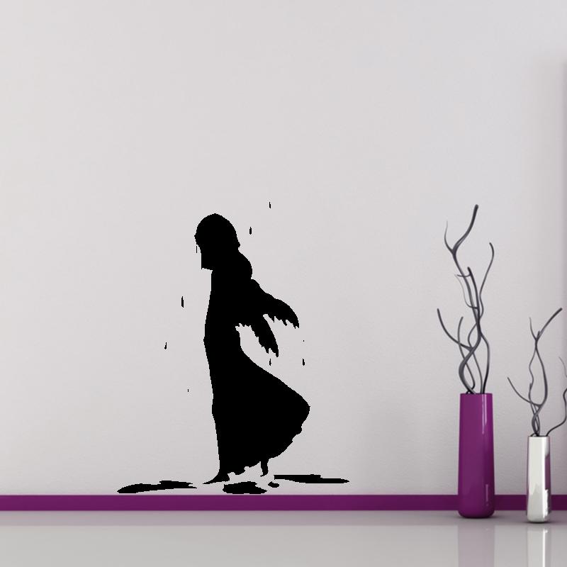 Samolepky na zeď - Samolepka na zeď - Zmoklý anděl