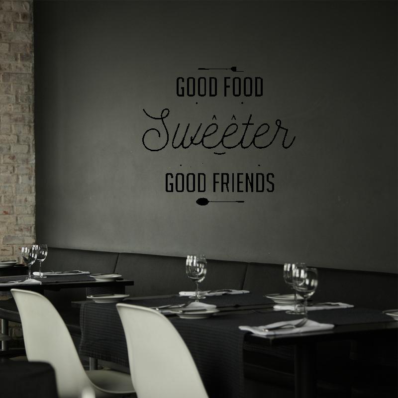 Samolepky na zeď - Samolepka na zeď - Good food nápis