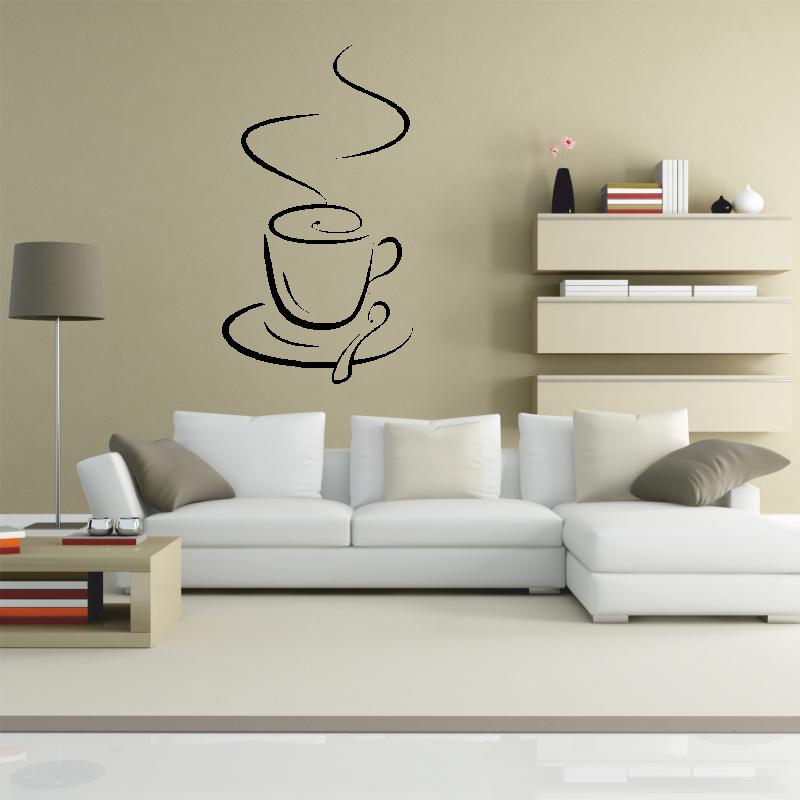 Samolepky na zeď - Samolepka na zeď - Šálek kávy