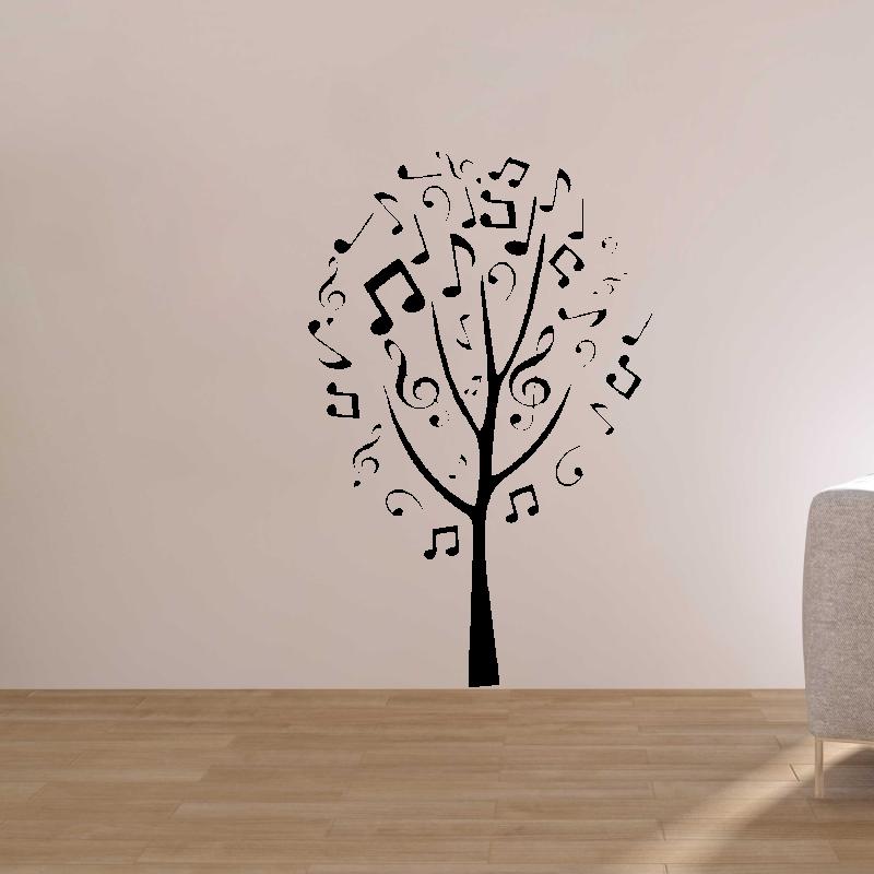 Samolepky na zeď - Samolepka na zeď - Hudební strom