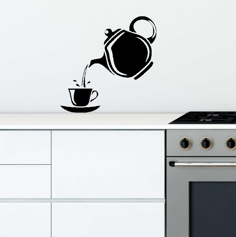 Samolepky na zeď - Samolepka na zeď - Šálek čaje