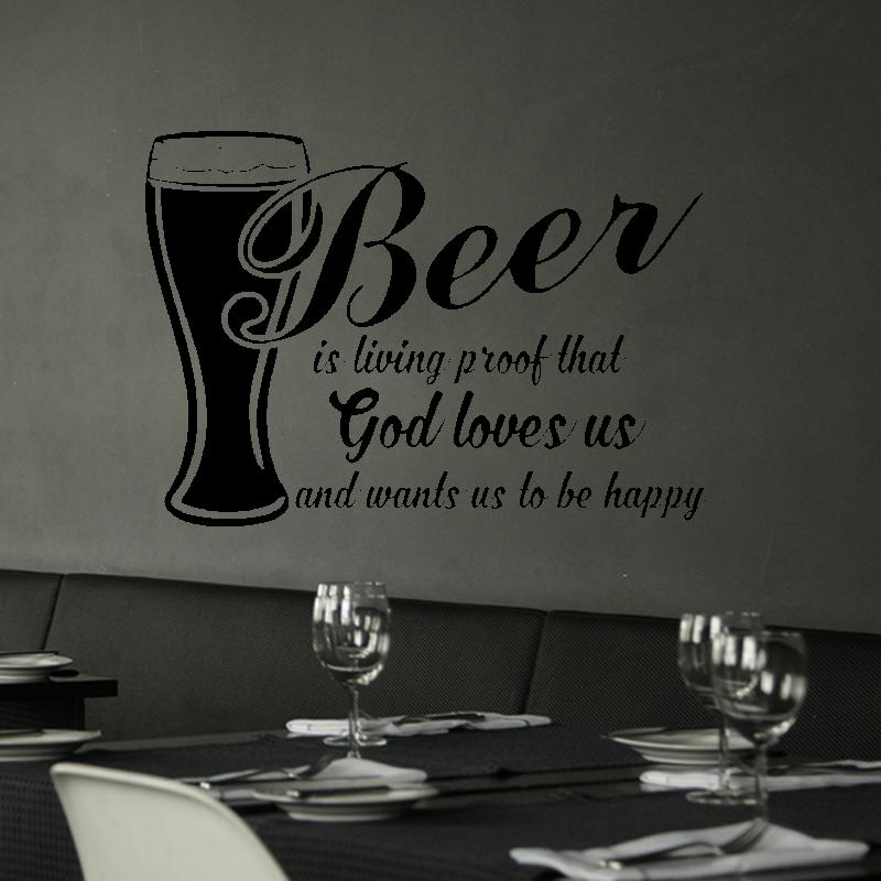 Samolepky na zeď - Samolepka na zeď - Beer nápis