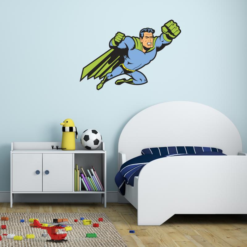 Samolepky na zeď - Barevná samolepka na zeď - Superman