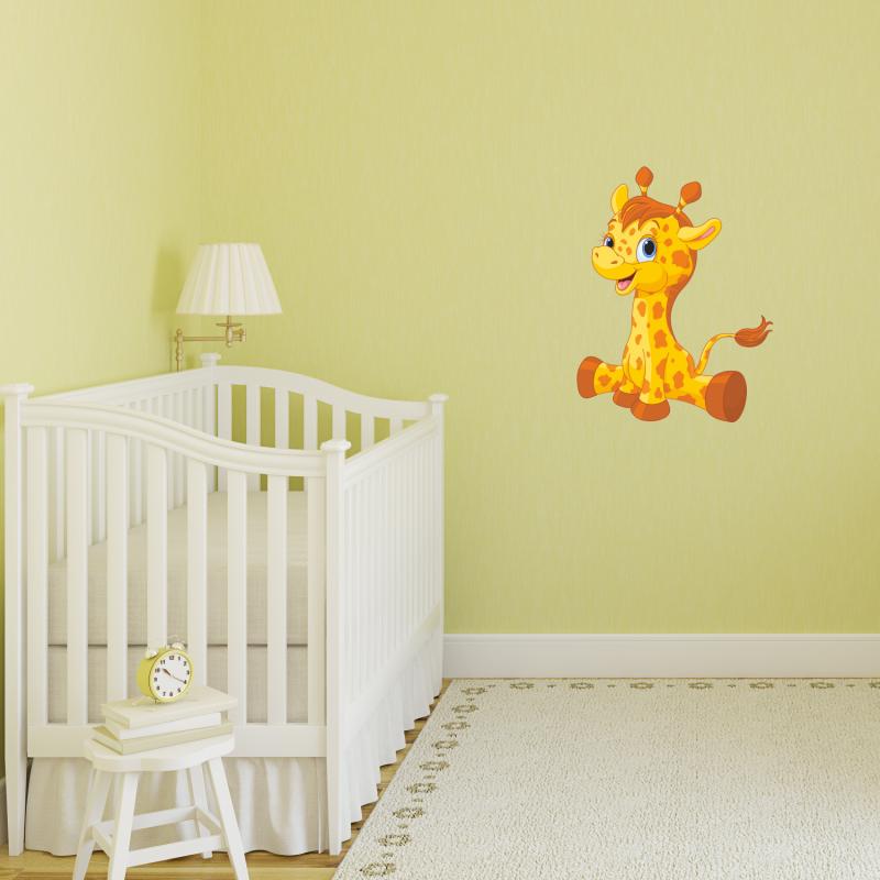 Samolepky na zeď - Barevná samolepka na zeď - Žirafa