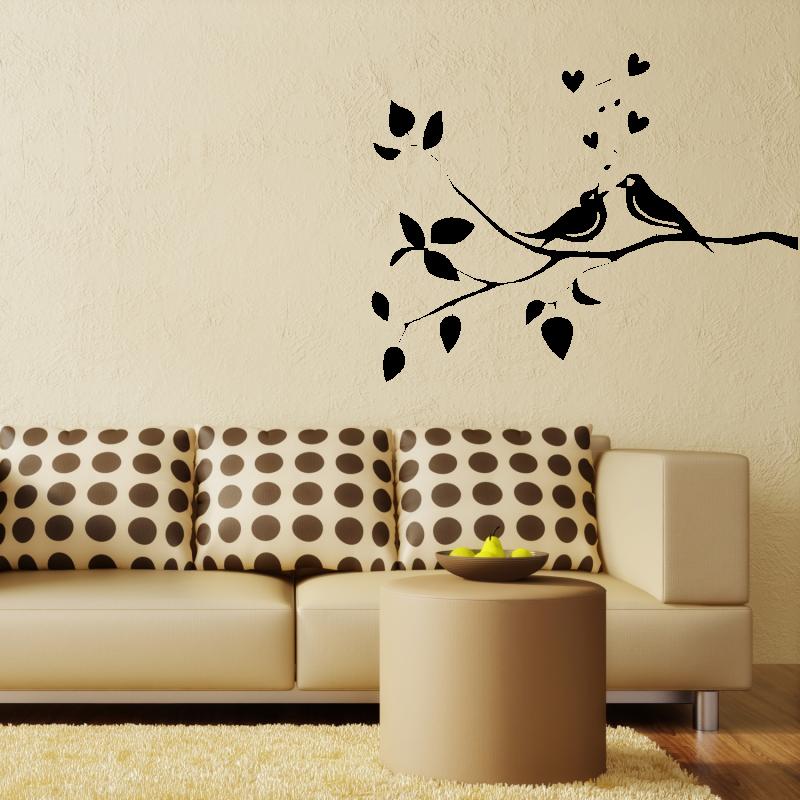 Samolepky na zeď - Samolepka na zeď - Zpívající ptáčci