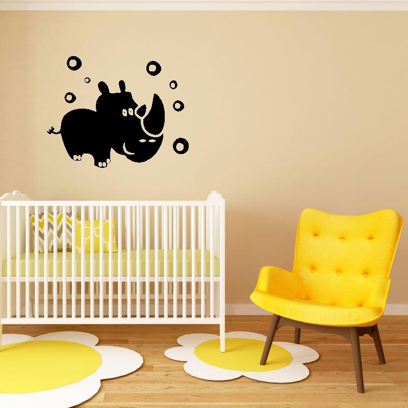Samolepky na zeď - Samolepka na zeď - Nosorožec