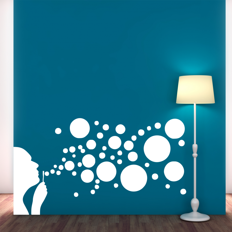 Samolepky na zeď - Samolepka na zeď - Bublifuk