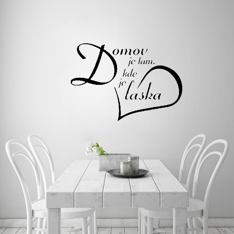 Samolepky na zeď - Samolepka na zeď - Domov je tam, kde je láska