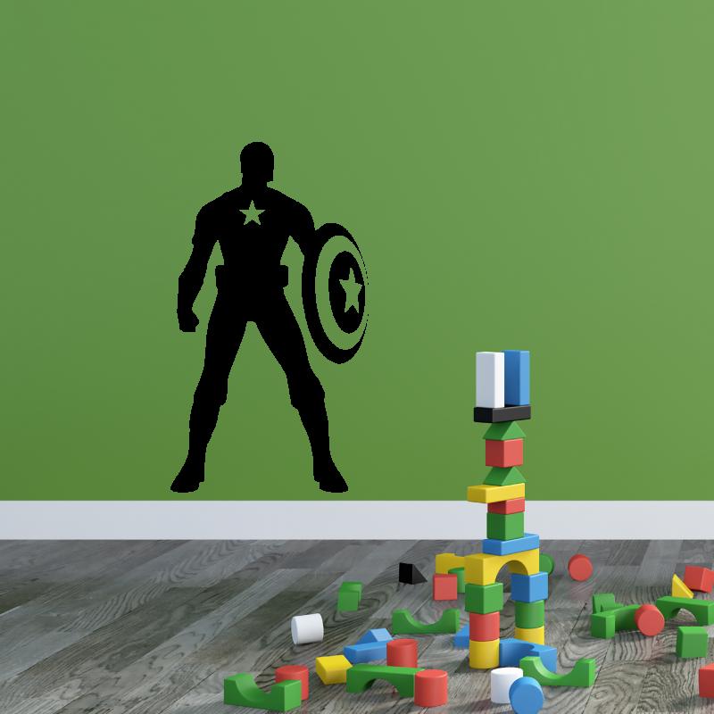 Samolepky na zeď - Samolepka na zeď - Captain America