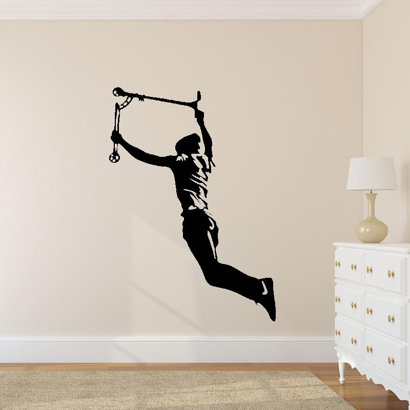 Samolepky na zeď - Samolepka na zeď - Freestylista s koloběžkou