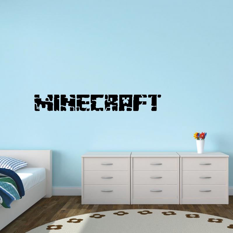 Samolepky na zeď - Samolepka na zeď - Minecraft nápis 2