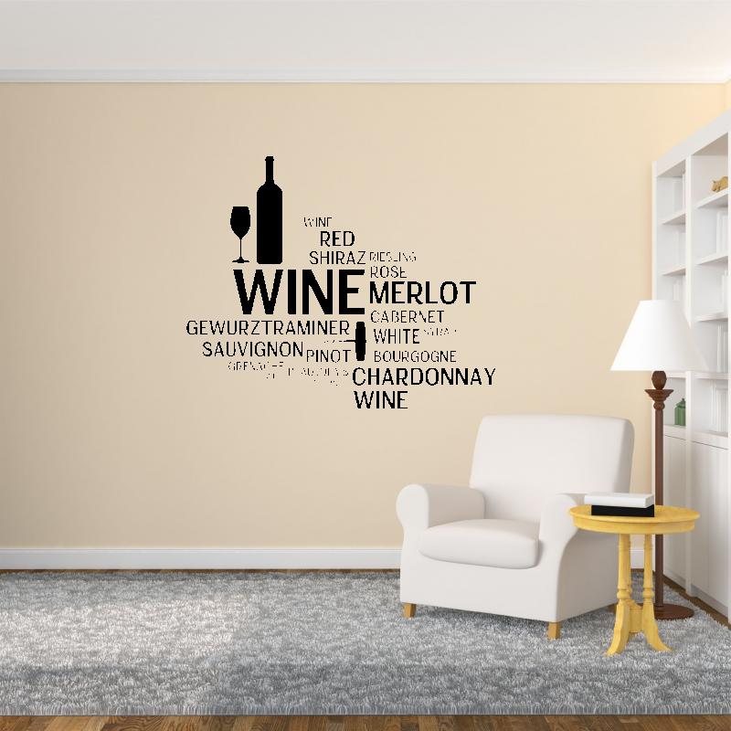 Samolepky na zeď - Samolepka na zeď - Vína nápisy
