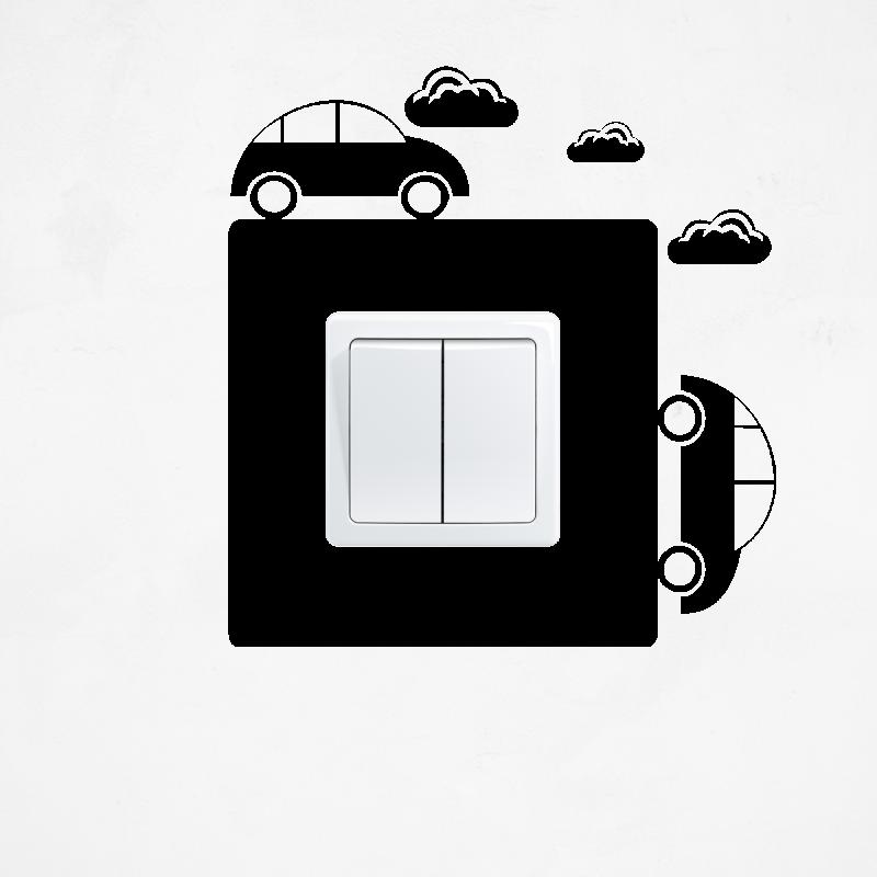 Samolepky na vypínač - Samolepka na vypínač - Auta