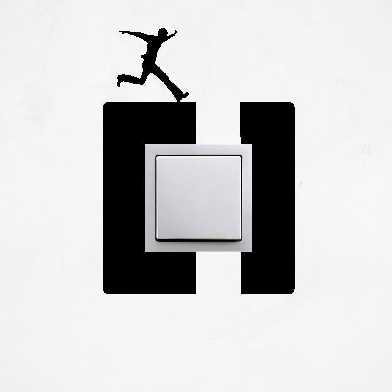 Samolepky na vypínač - Samolepka na vypínač - Přeskok
