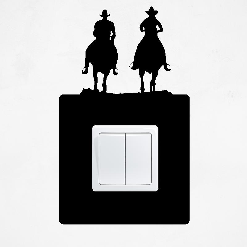 Samolepky na vypínač - Samolepka na vypínač - Kovbojové