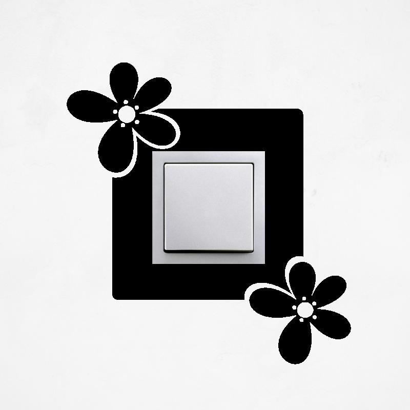 Samolepky na vypínač - Samolepka na vypínač - Květiny