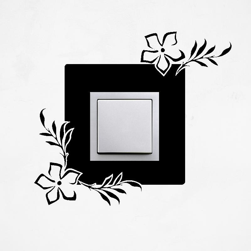 Samolepky na vypínač - Samolepka na vypínač - Květy s lístky