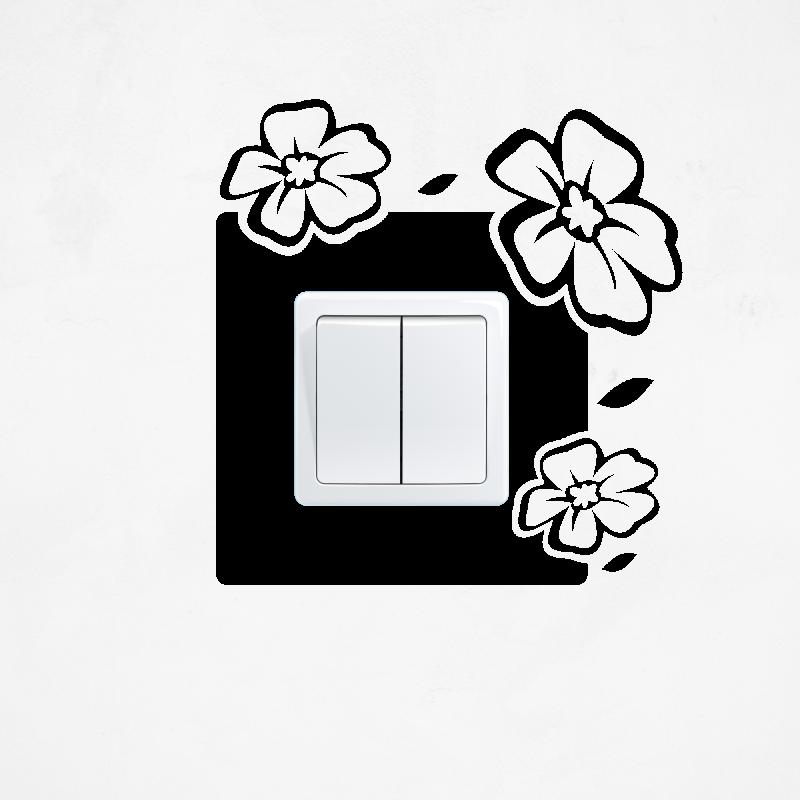 Samolepky na vypínač - Samolepka na vypínač - Rozkvetlé květiny