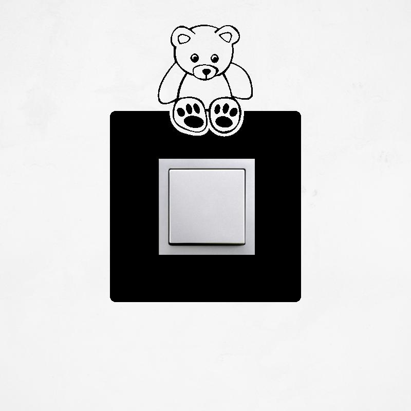 Samolepky na vypínač - Samolepka na vypínač - Medvídek