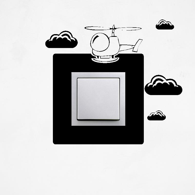 Samolepky na vypínač - Samolepka na vypínač - Helikoptéra