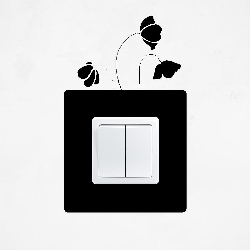 Samolepky na vypínač - Samolepka na vypínač - Vlčí mák