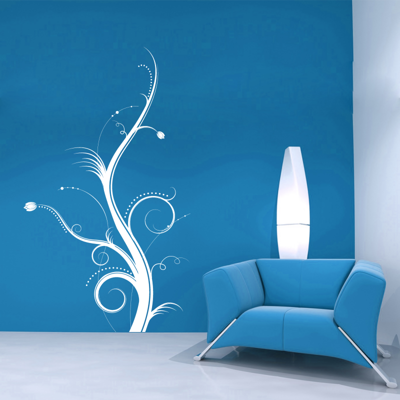 Samolepky na zeď - Samolepka na zeď - Floral 3