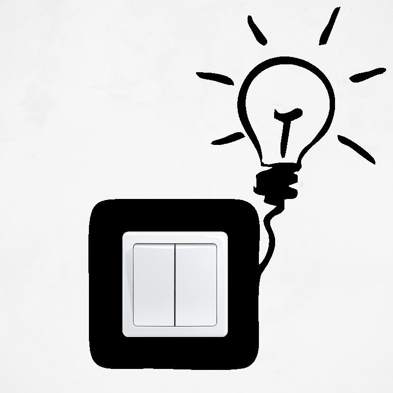 Samolepky na vypínač - Samolepka na vypínač - Žárovka