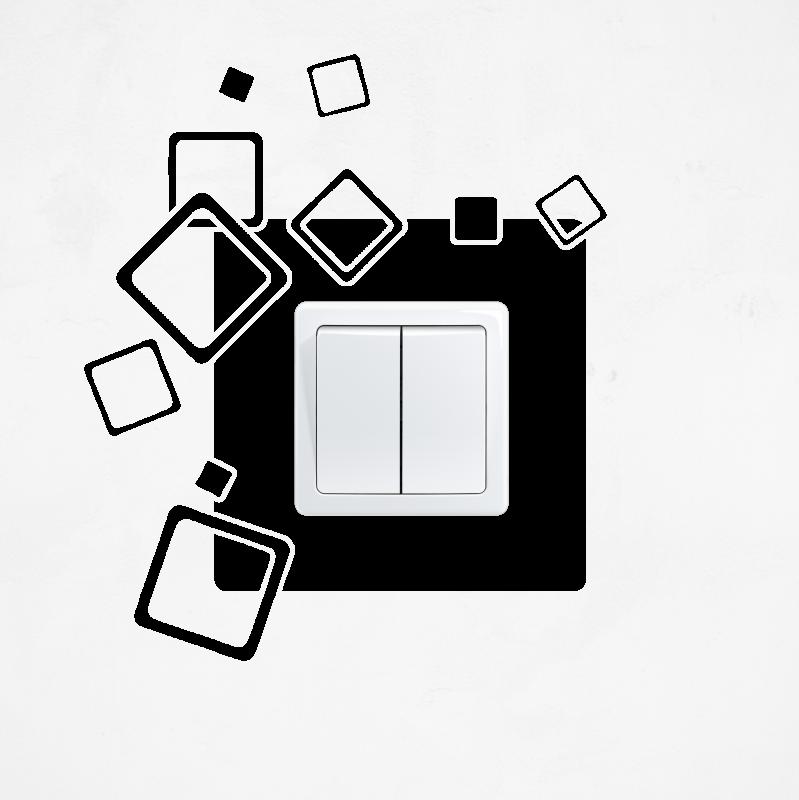Samolepky na vypínač - Samolepka na vypínač - Čtverce