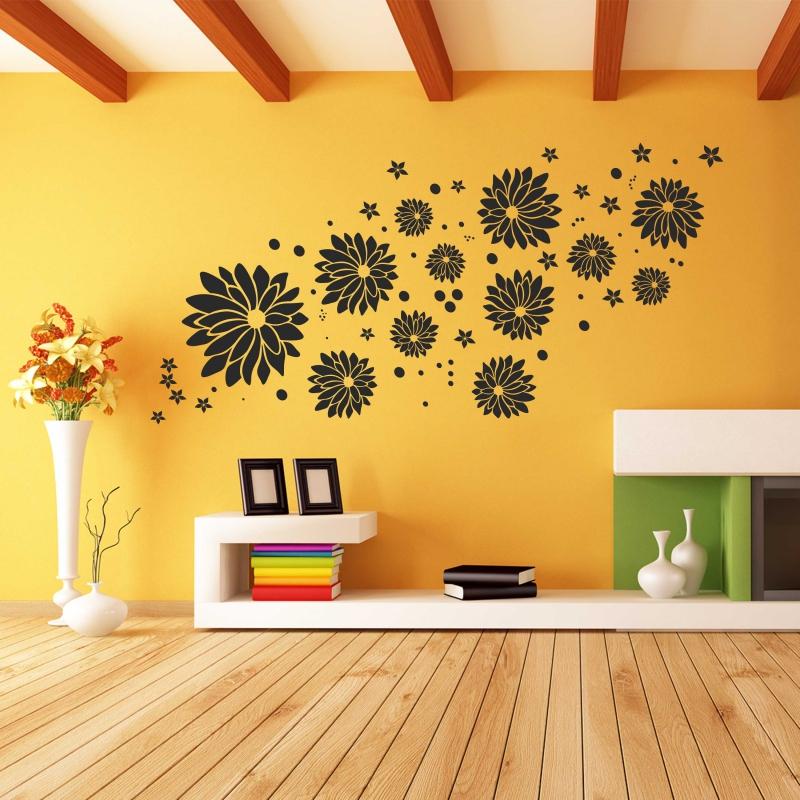 Samolepky na zeď - Samolepka na zeď - Květy velký set