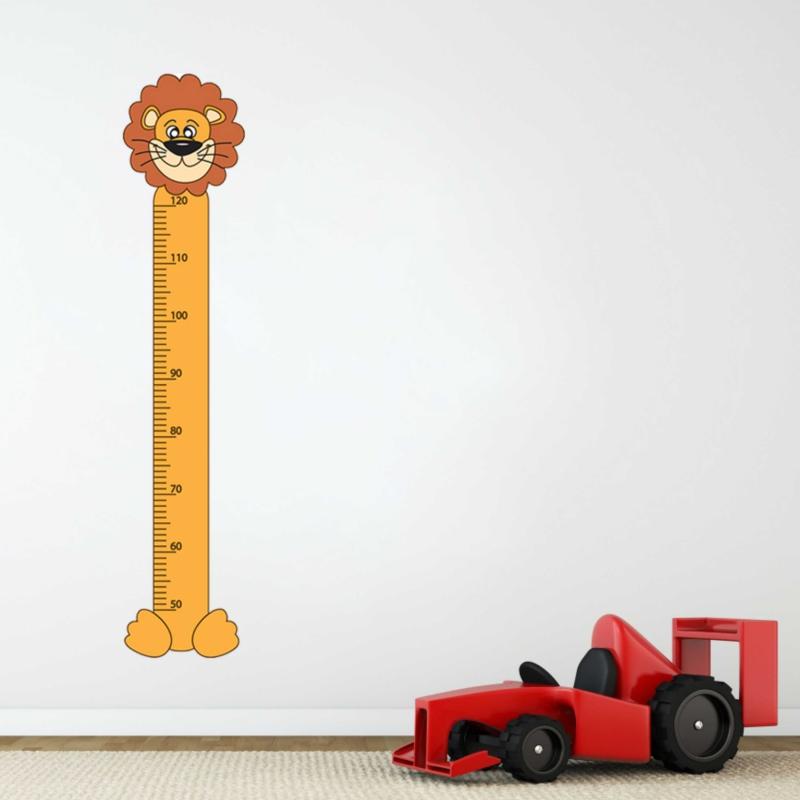 Samolepky na zeď - Samolepka na zeď - Dětský metr lev