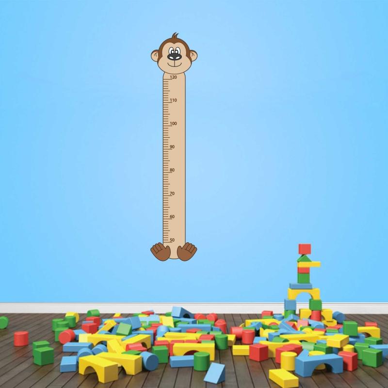 Samolepky na zeď - Samolepka na zeď - Dětský metr opička