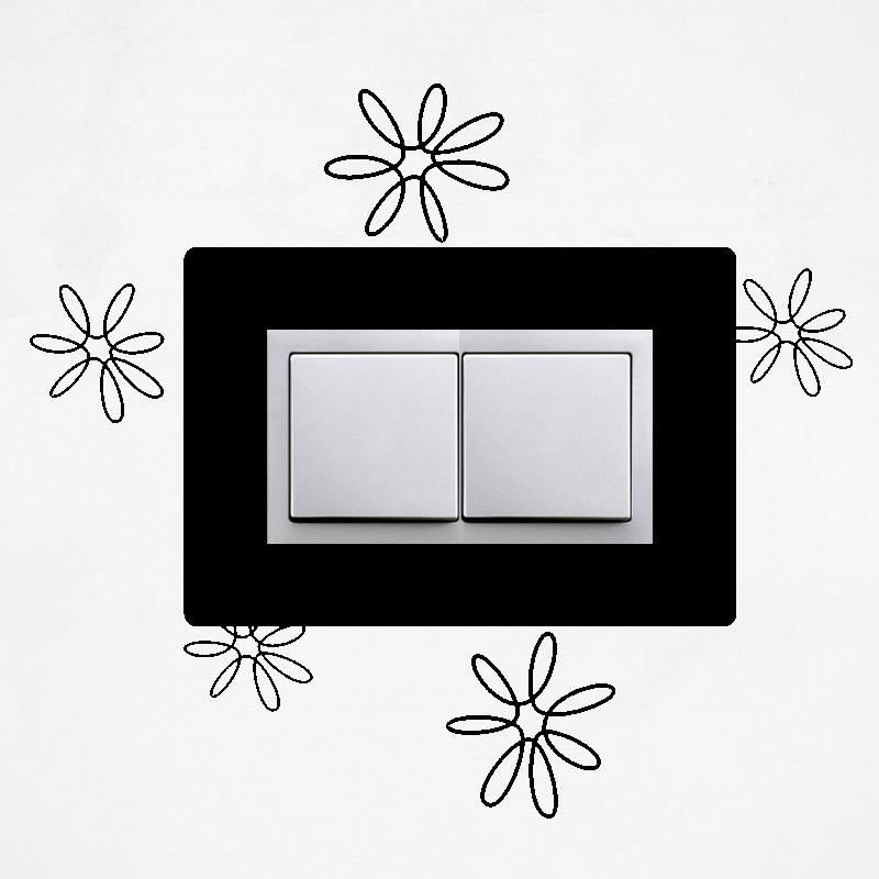 Samolepky na vypínač - Samolepka na dvojvypínač - Květy