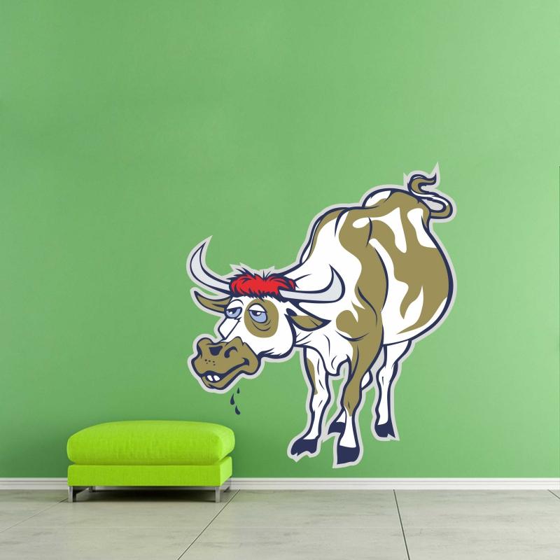 Samolepky na zeď - Barevná samolepka na zeď - Kráva