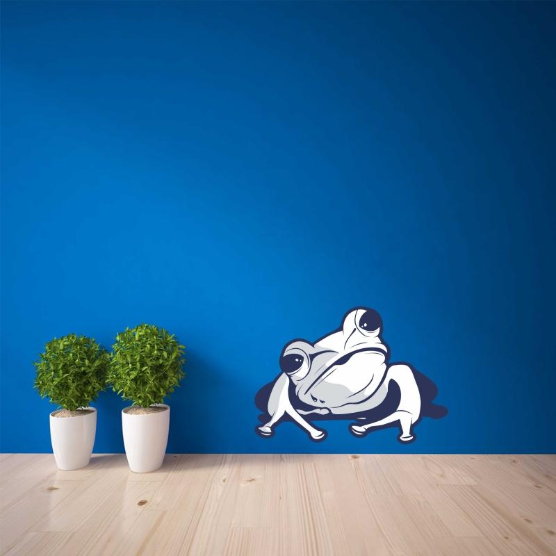 Samolepky na zeď - Barevná samolepka na zeď - Žába