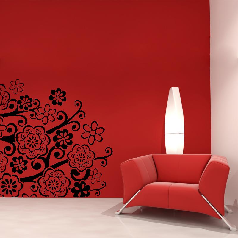 Samolepky na zeď - Samolepka na zeď -Ornament květy