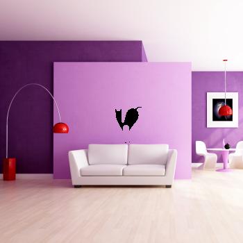 Samolepka na zeď - Stojící kočka