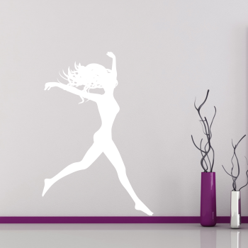 Samolepka na zeď - Dívka ve skoku