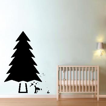 Samolepka na zeď - Zajíček v lese
