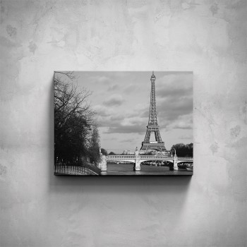 Obraz - Černobílá Eiffelova věž