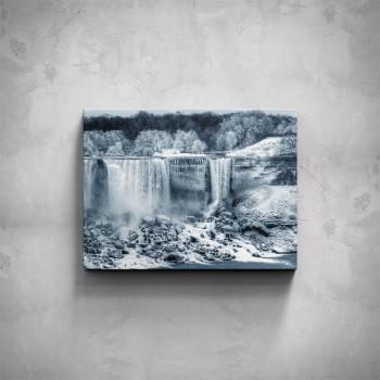 Obraz - Zimní vodopád