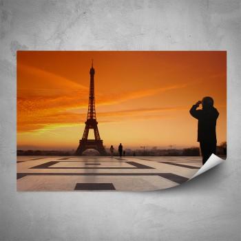 Plakát - Výhled na Eiffelovku