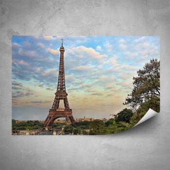 Plakát - Eiffelovka při západu slunce