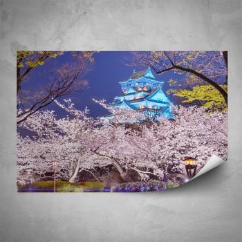 Plakát - Noční sakury