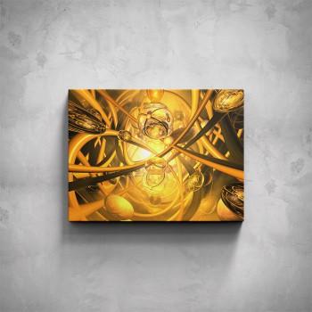 Obraz - Žlutá abstrakce