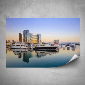 Plakát - Jachty v přístavu