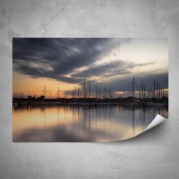 Plakát - Soumrak nad přístavem