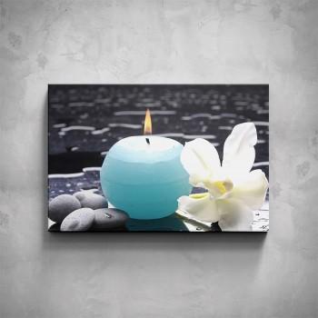 Obraz - Svíčka s kamínky