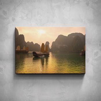 Obraz - Vietnamské lodě